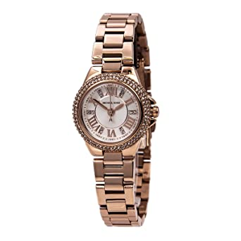 5fc8c374c9c9 Image Unavailable. Image not available for. Color  Michael Kors Women s  MK3253 - Mini Glitz Camille Rosegold