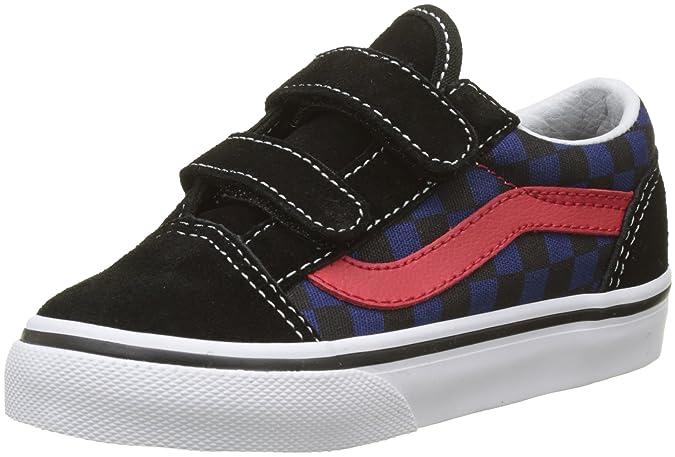 Vans Old Skool V, Zapatillas de Entrenamiento Unisex Bebé, Negro (Blacksuede/Suiting), 24 EU
