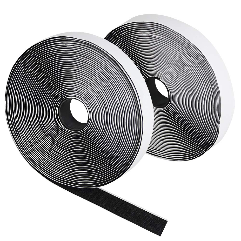 BUZIFU Adhesive Tapes 10M Adhesive Gripping Tape, Scratch Tape Hook Loop Sticker, Adhesive Hook and Loop Velcro Tape for All Types of Facilities Photo Frame