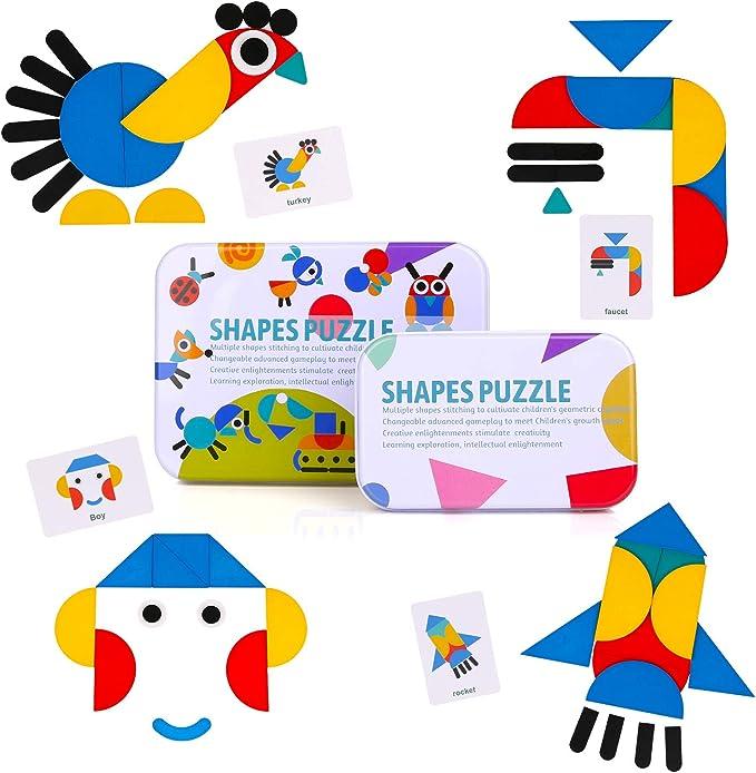 5 piece shape puzzle