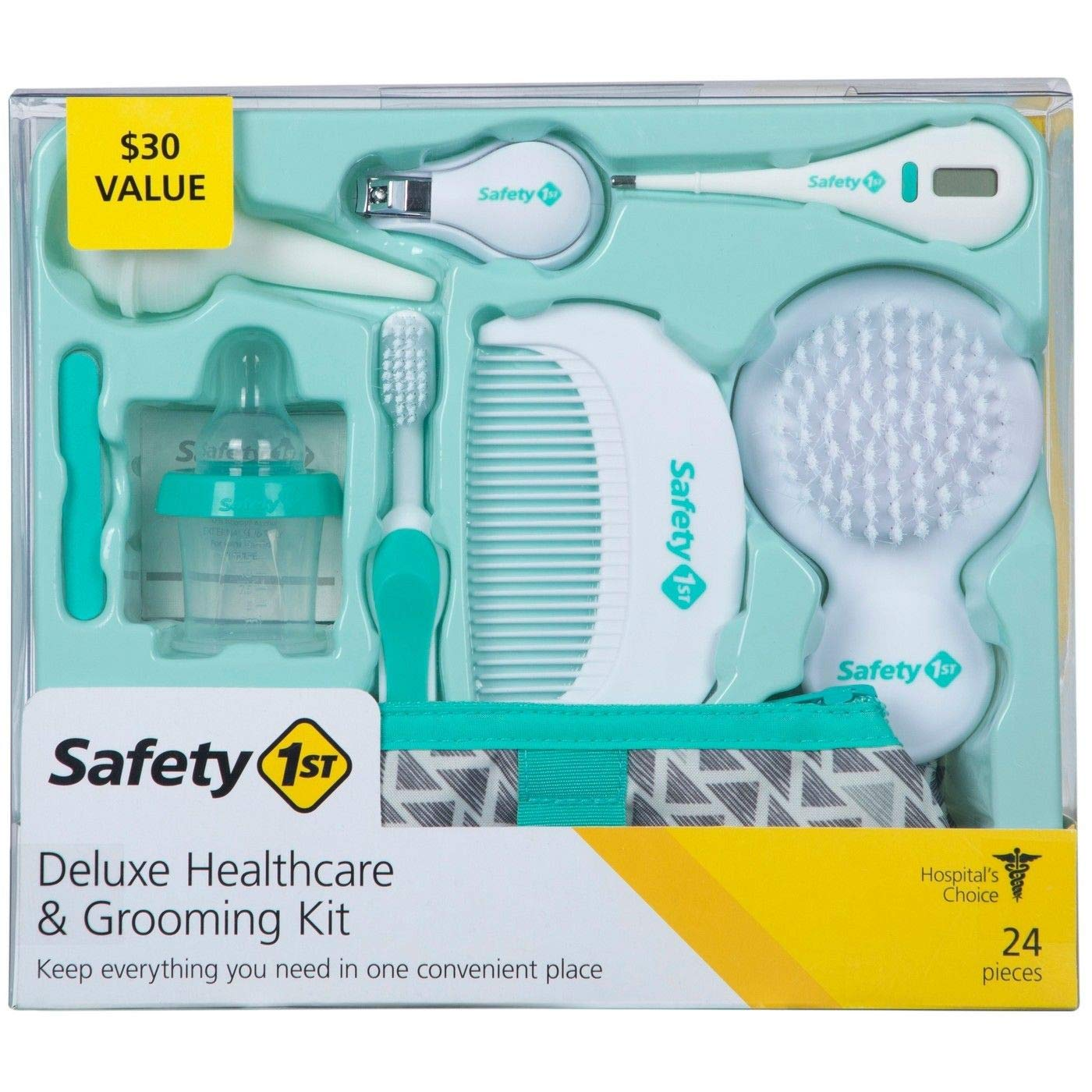 Safety 1st Deluxe Healthcare & Grooming Kit, Pyramids Aqua, Pyramids Aqua, One Size
