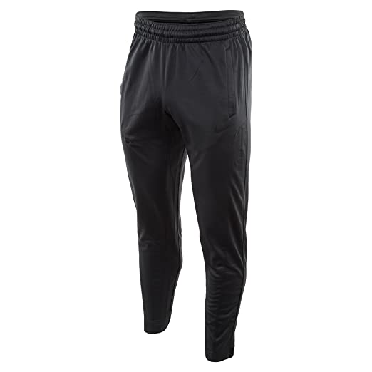 Men's Nike Therma Elite Basketball Pants Anthracite/Pure Platinum/Black  Small