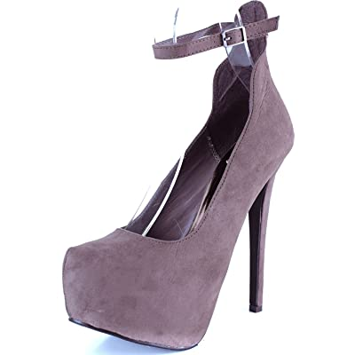 Breckelle's Women's MARISA-34 Platform High Heel Stiletto Ankle Strap Pump | Pumps