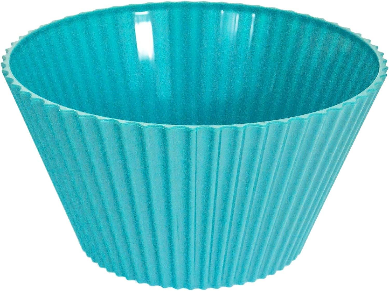 Ridged Design 25cm 4Lt Plastic Melamine Salad Bowl Yellow