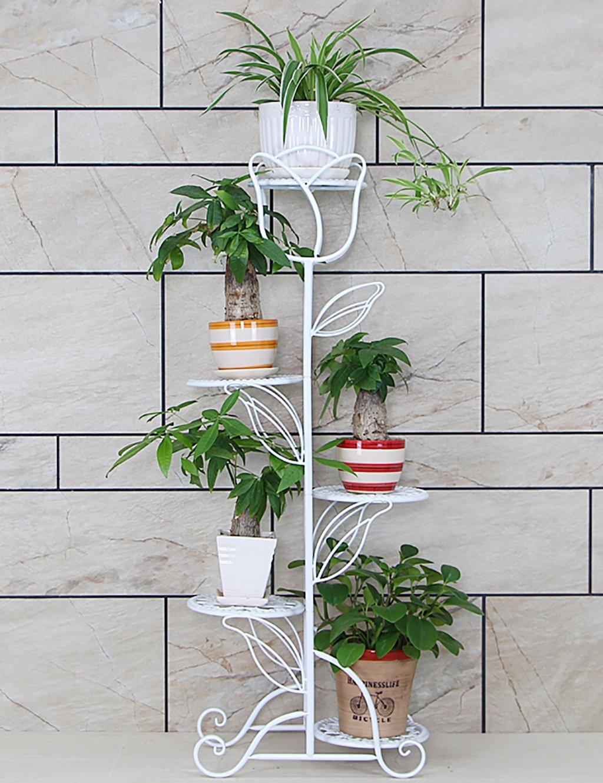 Kreative Europäische Stil Eisen Multilayer Balkon Wohnzimmer Boden Typ Blumentopf Regal Indoor Chlorophytum Einfache Blume Rack ( farbe : C )