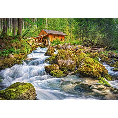 Castorland C-151783-2 Hobby Panoramic Watermill Jigsaw Puzzle, 1500 Pieces Set, Multicolour: Toys & Games
