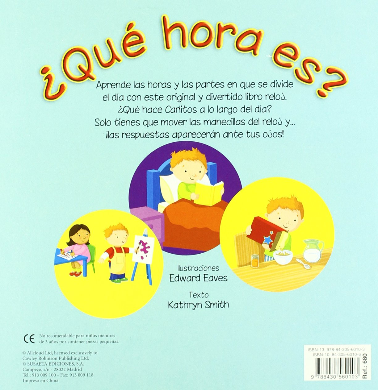 Que hora es?/ What Time is it? (Spanish Edition): 9788430560103: Amazon.com: Books