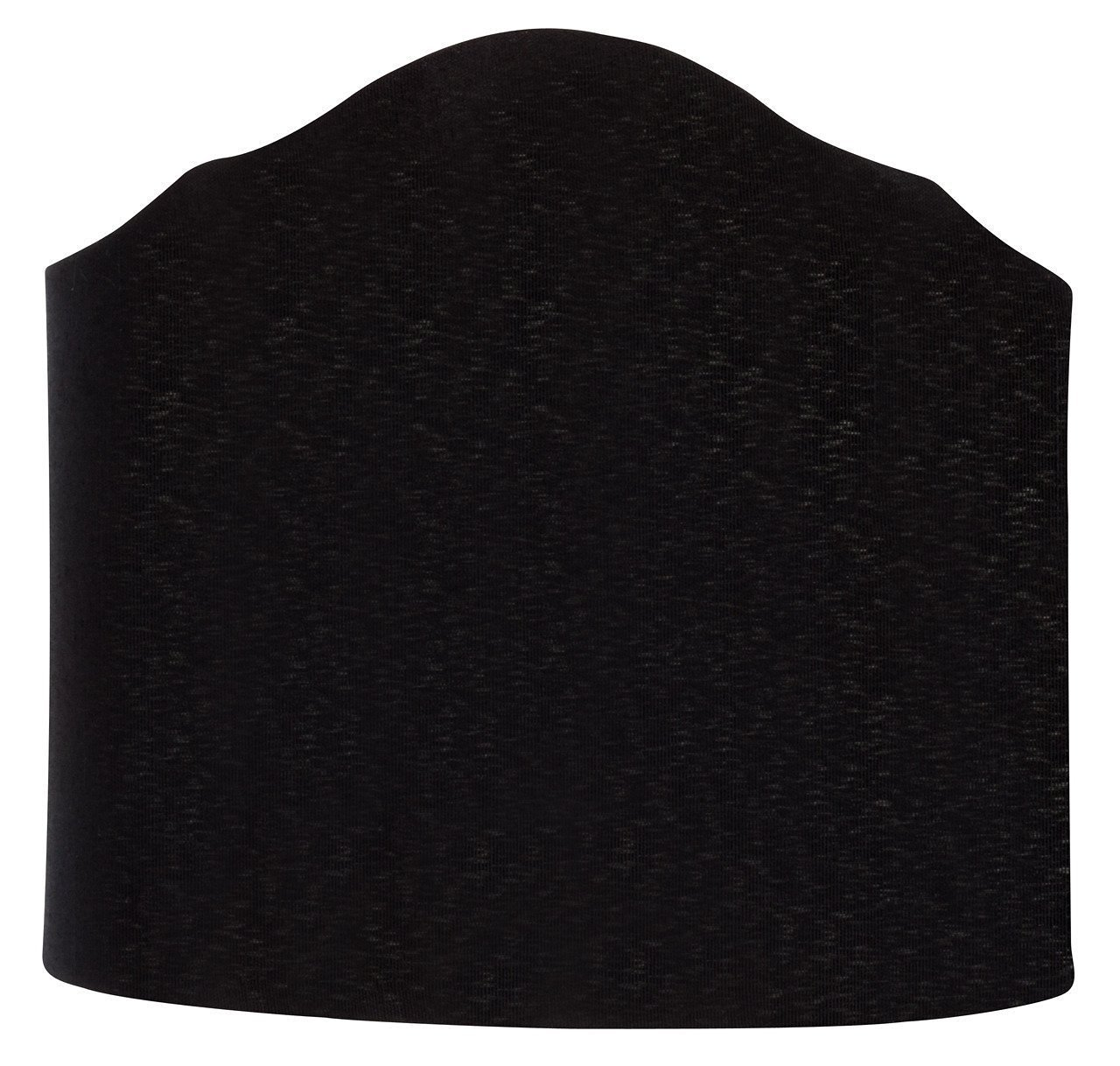 Upgradelights 6 Inch Wall Sconce Clip on Shield Lamp Shade with scalloped design (Black)