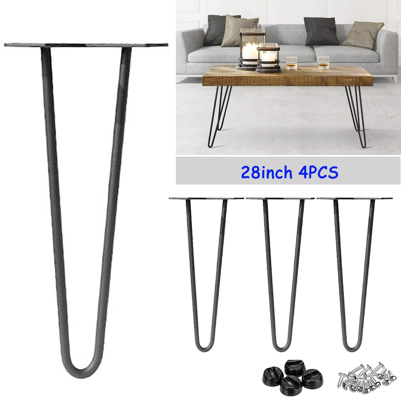 4pcs 10cm 2 Rod Hairpin Table Legs Industrial Furniture Desk Bench Legs Feet DIY