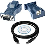 RTS&Tradetrade; BAFO USB to RS232 Serial DB9 Adapter Cable Add an RS232 Serial Port to Your Laptop or Desktop Computer Through USB
