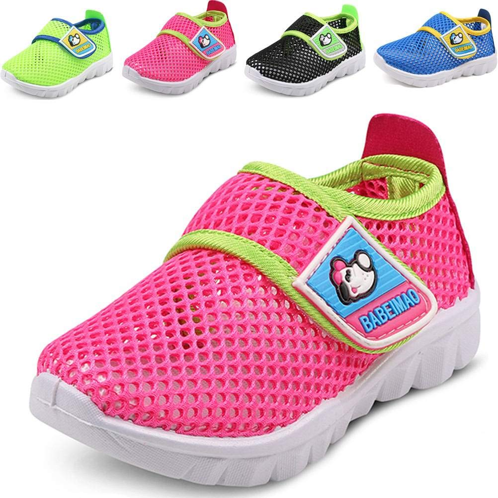 DADAWEN Baby's Boy's Girl's Breathable Mesh Running Sneakers Sandals Water Shoe Rose Red US Size 4 M Toddler