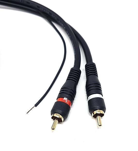 M (núcleo largo 2 x RCA a 2 x RCA con cable de toma de tierra ...