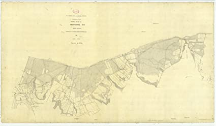 Amazoncom 18 x 24 Canvas 1895 New York old nautical map drawing