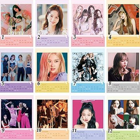 Aixingwuzi Moda Kpop Calendario, Nero Rosa Txt 2020 2021 Scrivania