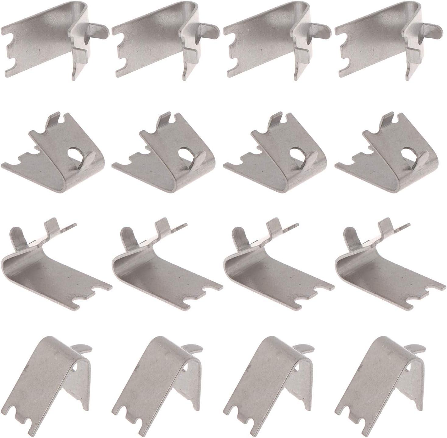 LOCOLO 16 Pieces Freezer Shelf Clip Fridge Cooler Shelf Clips Stainless Steel Shelf Support Clips for Refrigerator Shelf