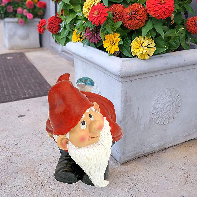 Fesses D/écoration De Jardin Nain Statue En Polyr/ésine Nain Dr/ôle Cadeau Pour La D/écoration Ext/érieure De Jardin 3,9x2,75x4,5 Pouces Statue Nain Vilain En R/ésine Statue De Nain De Jardin Dr/ôle