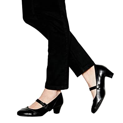 5a605f28e45 Good for the Sole Black Faux Leather 'Gurleen' Mid Block Heel Wide ...