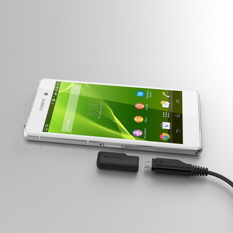 Cargador con conexi/ón magn/ética para Sony Xperia Z1//Z2//Z3 color negro MagNector N-202