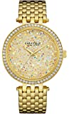 Caravelle New York Women's 44L184  Swarovski Crystal  Gold Tone Watch
