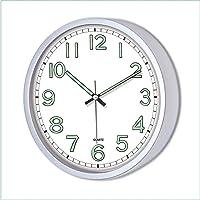 M3Decorium DKM3TGY1483FS Sessiz Çalışan Duvar Saati, Fosforlu, Beyaz, 22 cm