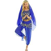 inhzoy Vestido Danza del Vientre para Mujer Disfraz