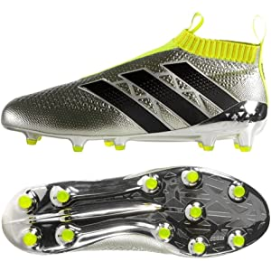 899e40c95 adidas ACE 16+ PURECONTROL FG Soccer Cleats (Silver Metallic