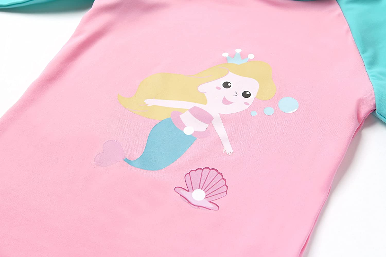 Ozkiz Little Girls and Little Boys Swimwear Rash Guard Spandex Kids Swimsuit