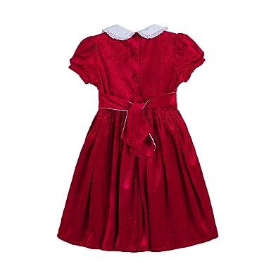 bb0557f45 Amazon.com: Pettigirl Girls Smocked Dress Puff Sleeve Velvet Dresses:  Clothing