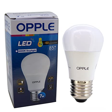 E27 7 vatios EcoMax Opple bombilla LED, luz fría, porción al por mayor de