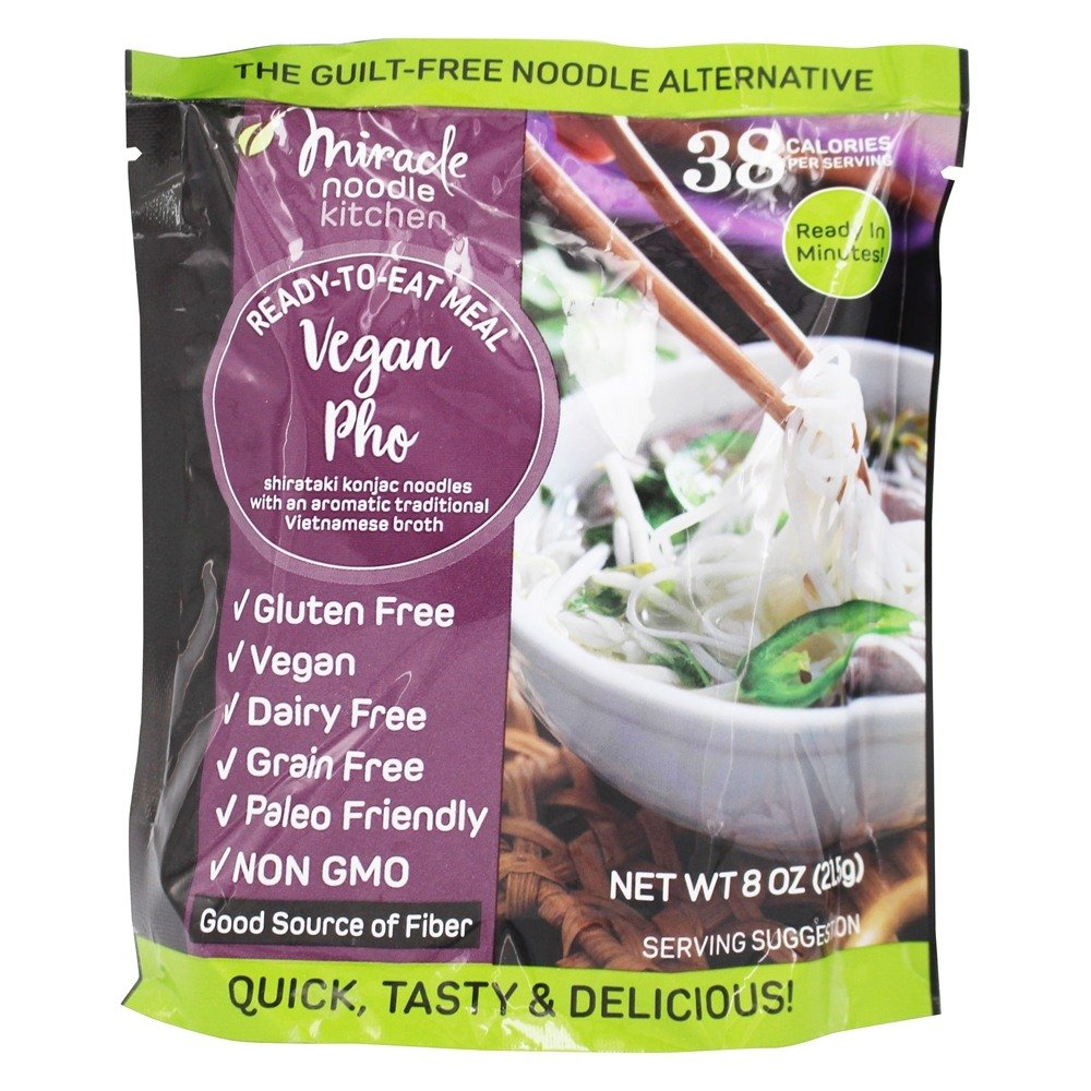 MIRACLE NOODLE, RTE MEAL, PHO, Pack of 6, Size 8 OZ - No Artificial Ingredients Gluten Free Vegan
