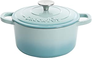 Crock Pot Artisan Round Enameled Cast Iron Dutch Oven, 5-Quart, Aqua