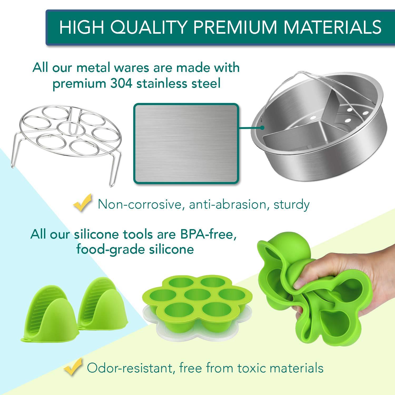 Instant Pot Accessories Set by LeafLife | Compatible with 5,6,8 Qt Instapot- Steamer Baskets, Springform Pan, Egg Bites Mold & More (BONUS RECIPES) by LeafLife (Image #7)