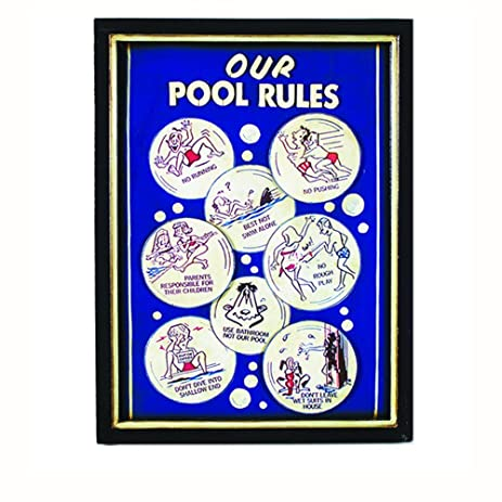 Our Pool Rules Wall Sign