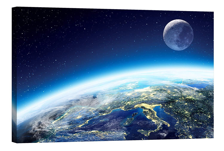 Images sur Toile Startoshop, Stampe e quadri di postluminescenza, la terra 4, categoria cosmo, 40 cm x 60 cm Photonic Wallart
