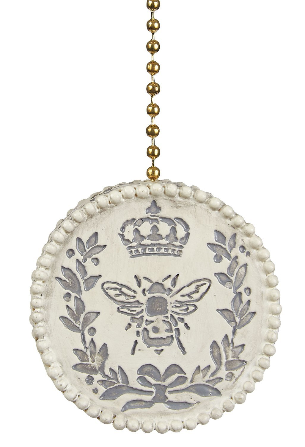 Antiqued Queen Bee Ceiling Fan Light Dimensional Pull by Clementine Designs