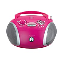 Grundig 1445 Radio CD USB Mp3, Rosa/Argento