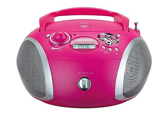 99 opinioni per Grundig 1445 Radio CD USB Mp3, Rosa/Argento