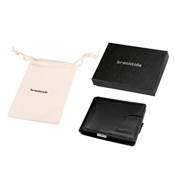 Amazon.com: BREAKTIDE RFID - Carteras de piel para hombre ...