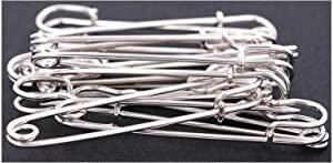 Safety Pins Large Heavy Duty Safety Pin - LeBeila 12pcs Blanket Pins 3 Inch Stainless Steel Wire Safety Pin Extra Strong & Sturdy Bulk Pins for Blankets, Skirts, Crafts, Kilts (12pcs, Silver)