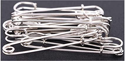 Healifty Large Safety Pins 10pcs Strong Colorful Safty Pins for Nappy Blanket Scarf and Crafts