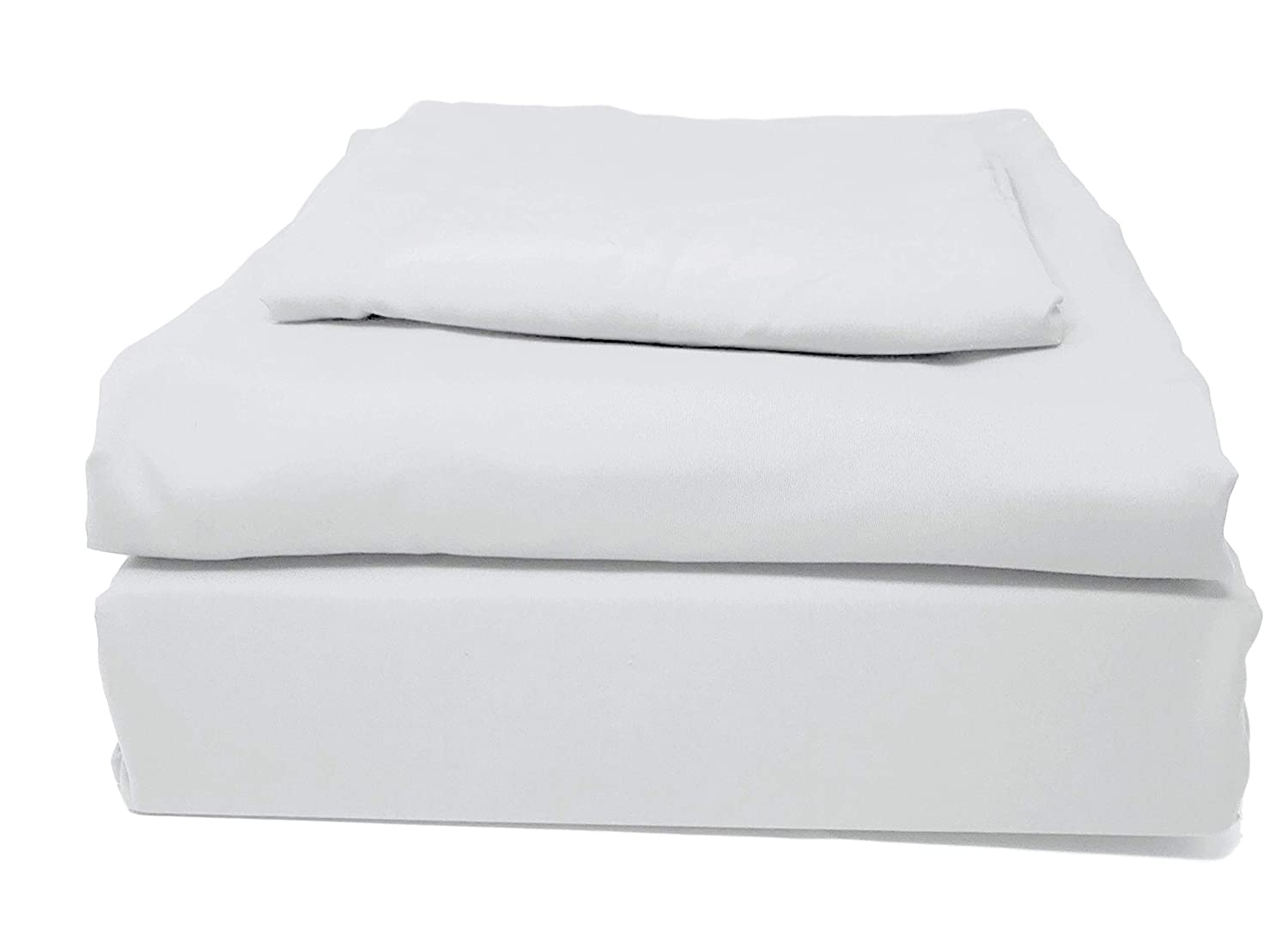 White 4 Packages Twin XL Tache Home Fashion 505-CW-BSS-TwinXL 4 Piece Super Soft Bulk Wholesale Motel Hotel Hospitality Dorm Guest Bed Bedroom Basic Bed Sheet Set