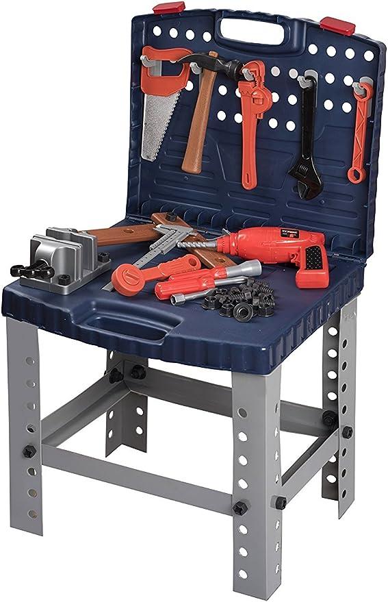 Kids Workbench Power Workbench Home Repair Tool Toy Set,Boys Girls Gift Figures Playsets Kindes 14Pcs//Set Repair Tool