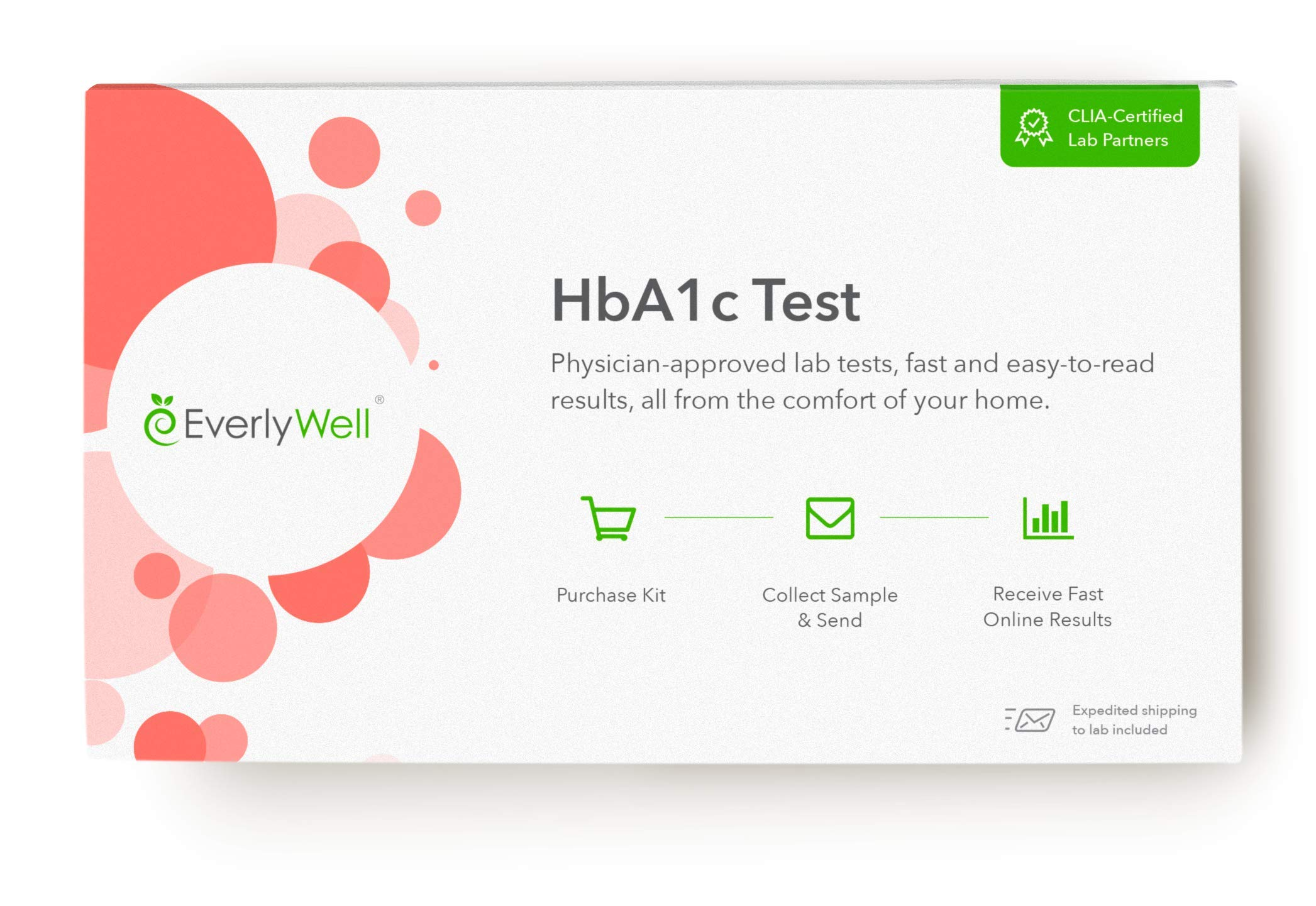 EverlyWell - at-Home HbA1c Test - Measure Your Blood Sugar Levels (Not Available in Maryland, NY, NJ, RI)