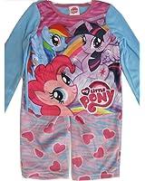My Little Pony Little Girls Pink White Pony Heart 2 Pc Pajama Set 4-6