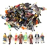 100Pcs 1:50 Scale O Gauge Hand Painted Layout Model Train People Figure by SoleRot