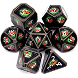 Haxtec Metal DND Dice Set Dragon Eye Real Scene D&D Dice for Dungeons and Dragons RPG Games-Evil Eye