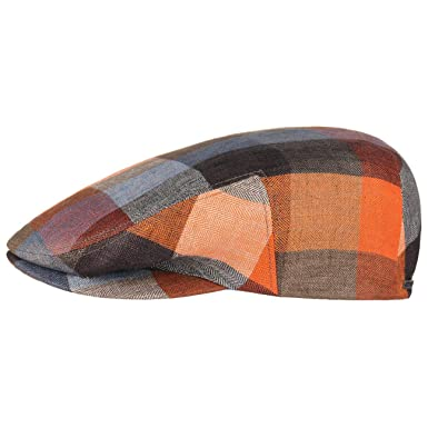 75ffe5dd5f6 Stetson Kent Colour Checks Flat Cap Linen Ivy hat  Amazon.co.uk  Clothing