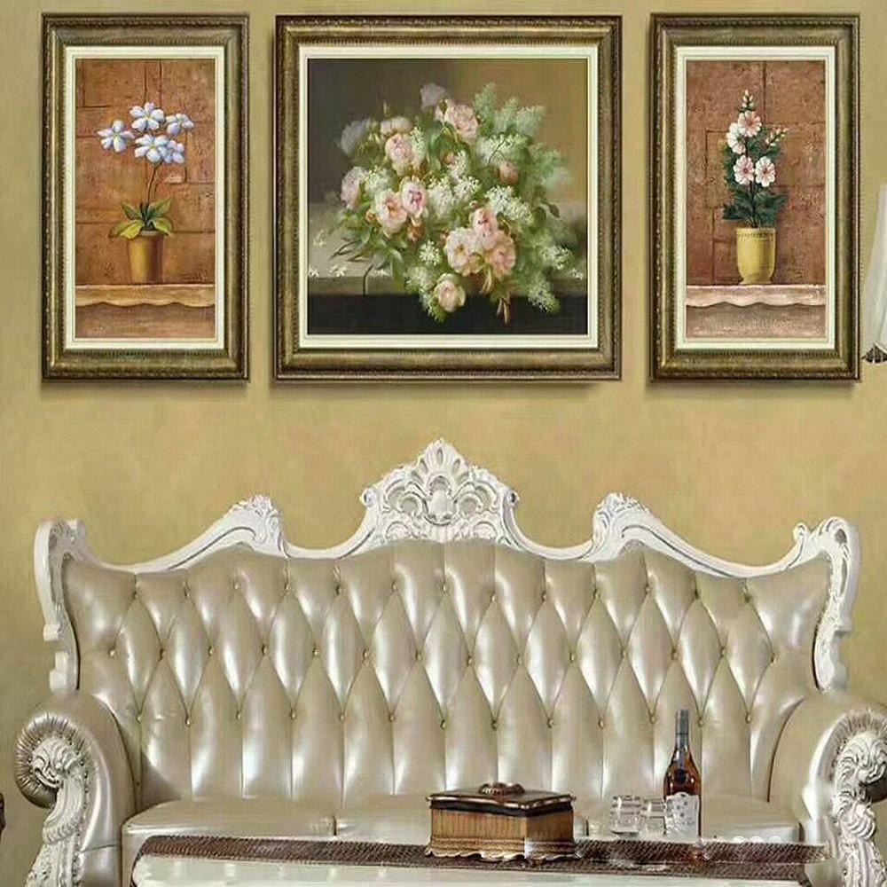 GCCI con una Pintura Decorativa en Relieve Tres Pinturas de la Sala de Estar Hotel Hotel Pintura,Re,52  72 + 72  92