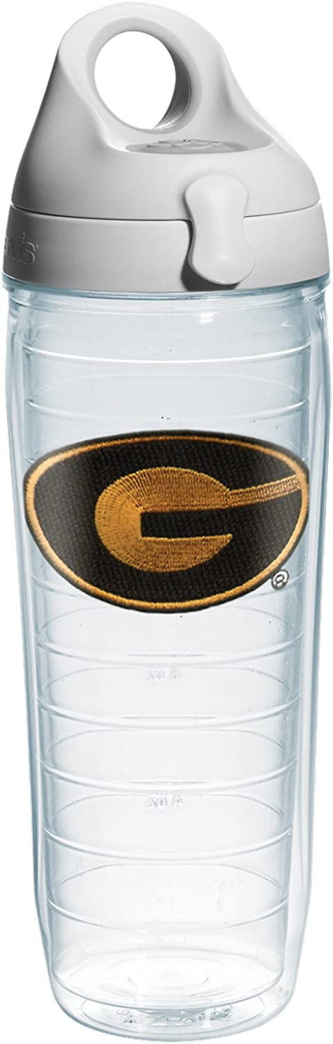 Tervis Grambling State University Emblem Individual Water Bottle with Gray lid, 24 oz, Clear
