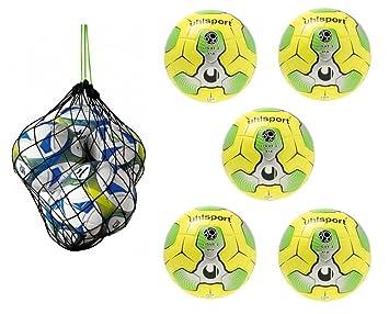 uhlsport Deporte Cañón Paris Hombre + junioren Balón de fútbol Juego de 5 + Erima –